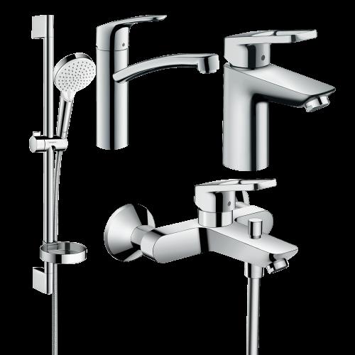 фото - Набор смесителей для ванны 4 в 1 hansgrohe Logis loop 1232019