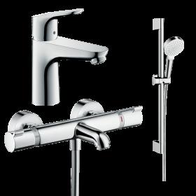 Набор смесителей для ванны 3 в 1 hansgrohe 131142020 (13114000, 31607000, 26535400)