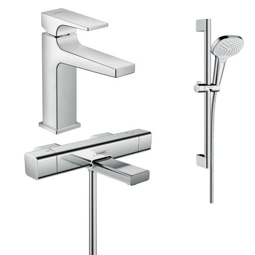 фото - Набор смесителей для ванны 3 в 1 hansgrohe 157742020 (15774000, 32507000, 26582400)