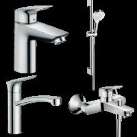 Набор смесителей для ванны 4 в 1 hansgrohe Logis 20200000 (71103000, 71400000, 71839000, 26533400)