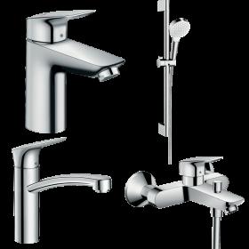 Набір змішувачів для ванни 4 в 1 hansgrohe Logis 20200000 (71103000, 71400000, 71839000, 26533400)
