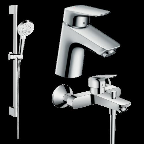 фото - Набор смесителей для ванны 3 в 1 hansgrohe 20200009