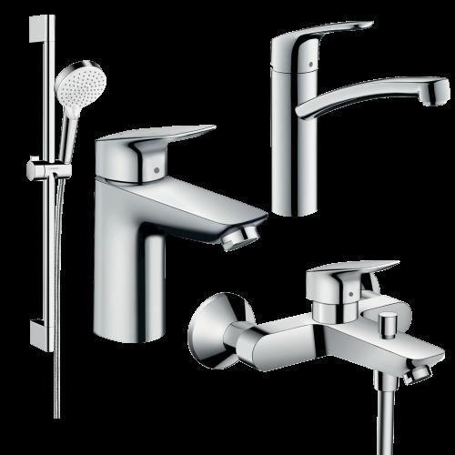 фото - Набор смесителей для ванны 4 в 1 hansgrohe 20200012