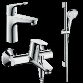 Набор смесителей для ванны 3 в 1 hansgrohe Focus 31940112 (31607000, 31940000, 26584400)