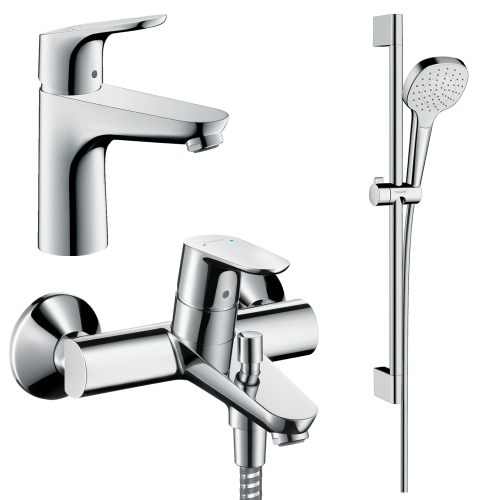 фото - Набор смесителей для ванны 3 в 1 hansgrohe Focus 31940112 (31607000, 31940000, 26584400)