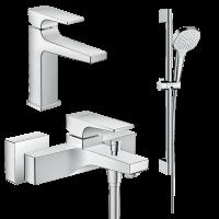 Набор смесителей для ванны 3 в 1 hansgrohe Metropol 32540112 (32507000, 32540000, 26582400)