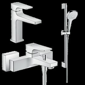 Набір змішувачів для ванни 3 в 1 hansgrohe Metropol 32540112  (32507000, 32540000, 26582400)
