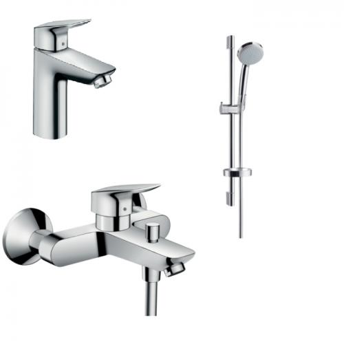 фото - Набор смесителей для ванны 3 в 1 hansgrohe Logis 467241
