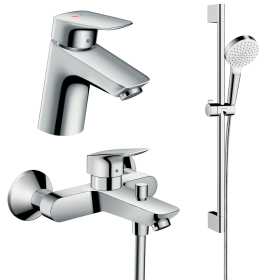 Набор смесителей для ванной 3 в 1 hansgrohe Logis 70002019  (71072000, 71400000, 26535400)