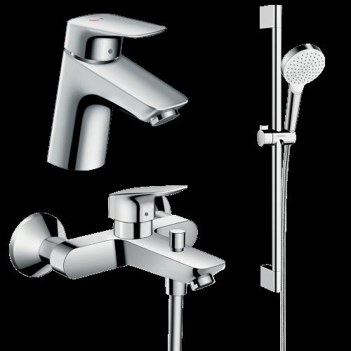 фото - Набор смесителей для ванной 3 в 1 hansgrohe Logis 70002020
