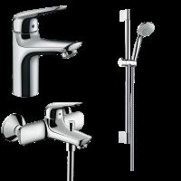 Набор смесителей для ванны 3 в 1 hansgrohe Novus 71040112 (71030000, 71040000, 27728000)