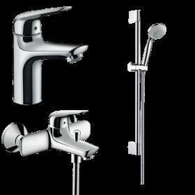 Набір змішувачів для ванни 3 в 1 hansgrohe Novus 71040112 (71030000, 71040000, 27728000)