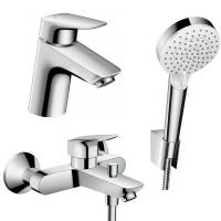 Набор смесителей для ванны 3 в 1 hansgrohe Logis 71400114 (71070000, 26694400, 71400000)