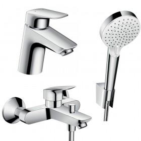 Набір змішувачів для ванни 3 в 1 hansgrohe Logis 71400114 (71070000, 26694400, 71400000)