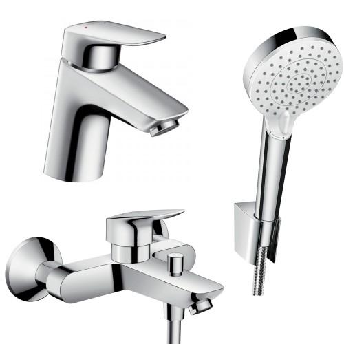 фото - Набір змішувачів для ванни 3 в 1 hansgrohe Logis 71400114
