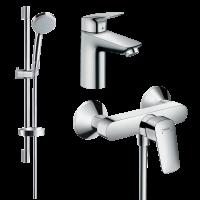 Набор смесителей для ванны 3 в 1 hansgrohe Logis 71600111 (71100000, 27772000, 71600000)