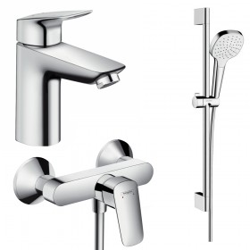 Набір змішувачів для ванни 3 в 1 hansgrohe Logis 71600113 (71100000, 26584400, 71600000)