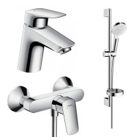 Набор смесителей для ванны 3 в 1 hansgrohe Logis 71600115 (71070000, 26553400, 71600000)