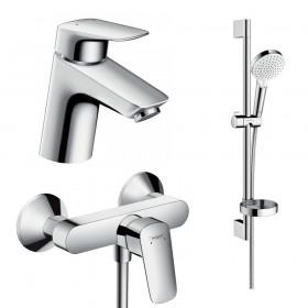 Набір змішувачів для ванни 3 в 1 hansgrohe Logis 71600115 (71070000, 26553400, 71600000)