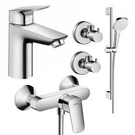 Набір змішувачів для ванни 4 в 1 hansgrohe Logis 71600116 (71100000, 27772000, 71600000, 13901000-2шт.)