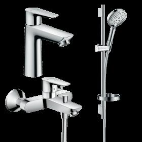 Набір змішувачів для ванни 3 в 1 hansgrohe Talis E 71740112 (71710000, 71740000, 26630000)