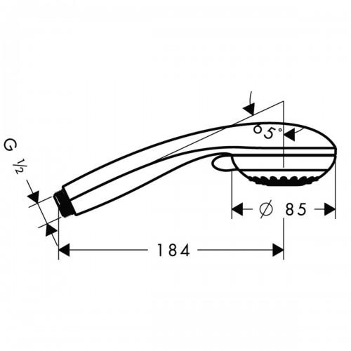 фото - Ручний душ hansgrohe Crometta 85 Multi 28563000