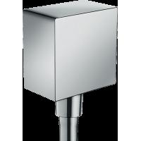 Шланговое подсоединение с клапаном обратного потока hansgrohe Fixfit хром 26455000