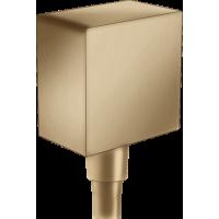 Шланговое подсоединение hansgrohe FixFit с обратным клапаном, бронза матовый 26455140