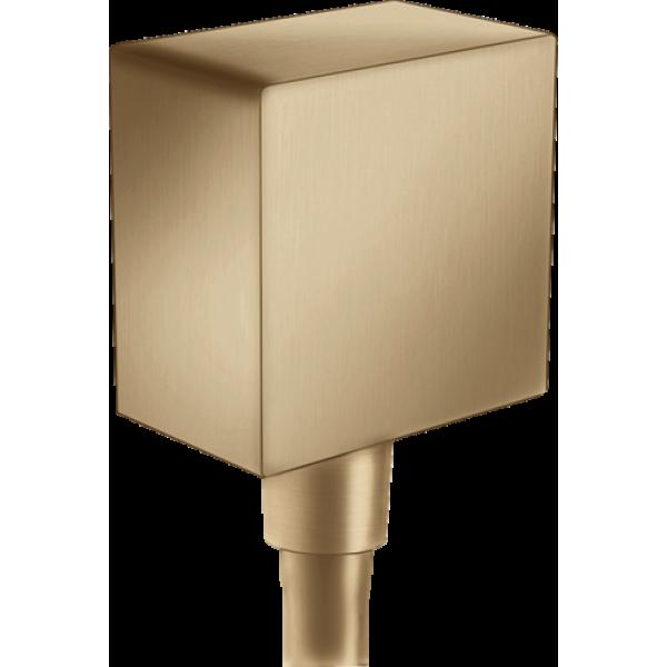 фото - Шланговое подсоединение hansgrohe FixFit с обратным клапаном, бронза матовый 26455140