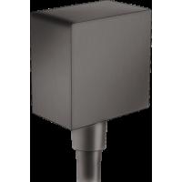 Шланговое подсоединение hansgrohe FixFit с обратным клапаном, матовый черный хром 26455340