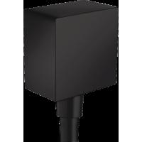 Шланговое подсоединение hansgrohe FixFit с обратным клапаном, черный матовый 26455670