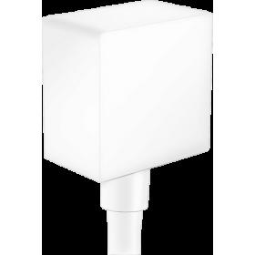 Шланговое подсоединение hansgrohe FixFit с обратным клапаном, белый матовый 26455700
