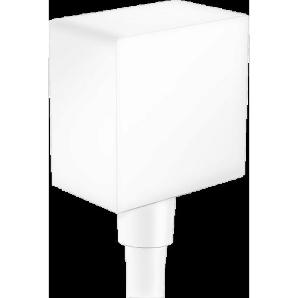 фото - Шланговое подсоединение hansgrohe FixFit с обратным клапаном, белый матовый 26455700