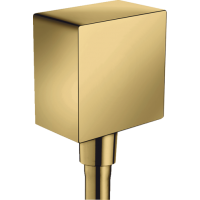 Шланговое подсоединение hansgrohe FixFit с обратным клапаном, золото 26455990