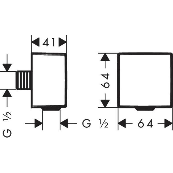 фото - Шланговое подсоединение hansgrohe FixFit с обратным клапаном, матовый черный хром 26455340