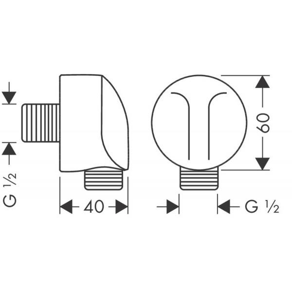 фото - Шланговое подсоединение FixFit с обратным клапаном 27458000