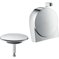 Внешняя часть излива на ванну с набором для слива и переливаа hansgrohe Exafill S 58117000 хром