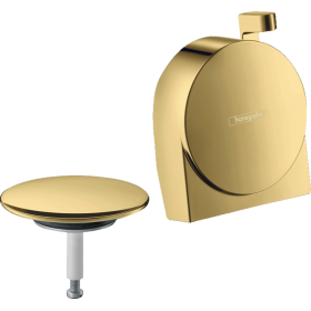 Внешняя часть излива на ванну с набором для слива и переливаа hansgrohe Exafill S 58117990 золото