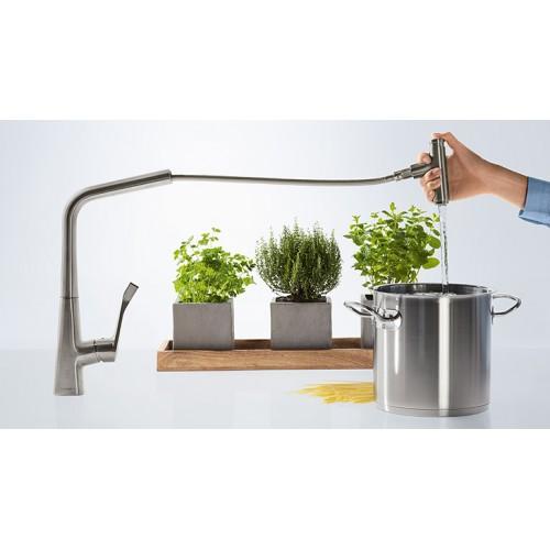 фото - Змішувач hansgrohe Metris для кухонної мийки 14834800