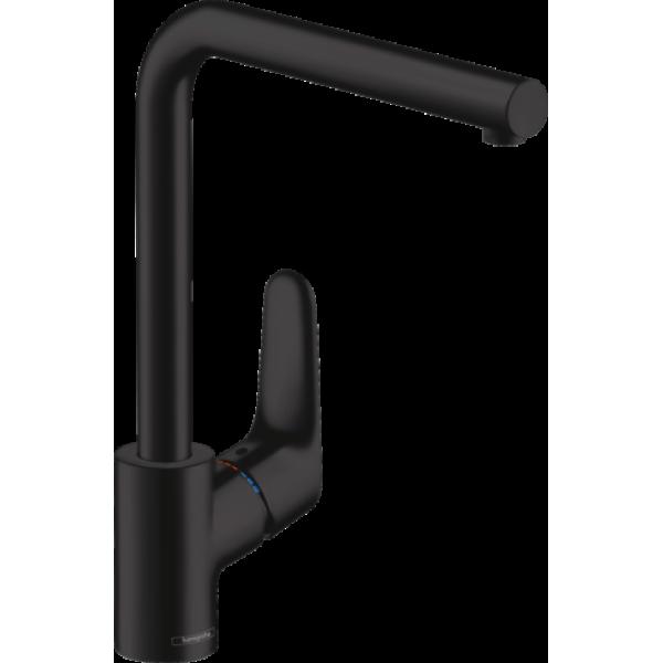 фото - Смеситель hansgrohe Focus для кухонной мойки 1-струйный, матовый черный 31817670