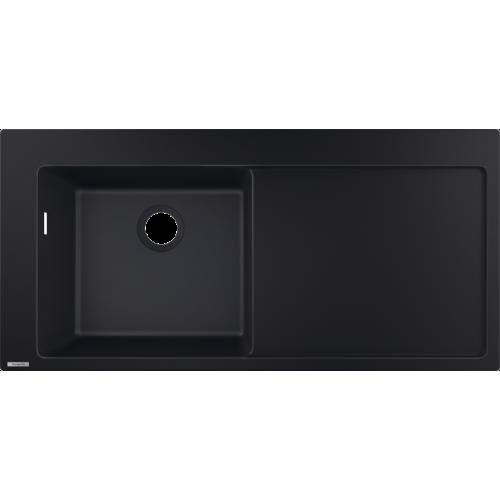 фото - Мойка для кухни hansgrohe S51 S5110-F450 43330170 с сушилкой справа, черный графит