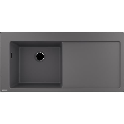 фото - Мойка для кухни hansgrohe S51 S5110-F450 43330290 с сушилкой справа, серый камень