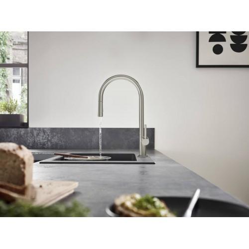 фото -  Змішувач hansgrohe Talis M54 для кухонної мийки з висувним душем, чорний матовий 72801670