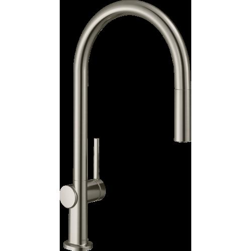 фото - Смеситель hansgrohe Talis M54 для кухонной мойки с выдвижным душем, под сталь 72803800