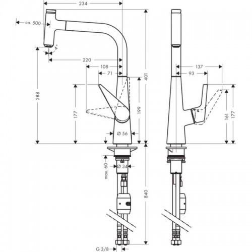 фото - Змішувач hansgrohe Talis Select S для кухонної мийки 72821000