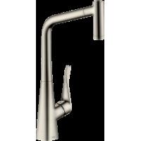 Смеситель hansgrohe Metris M71 для кухонной мойки, под сталь 73801800