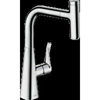 Смеситель hansgrohe Metris Select M71 для кухонной мойки, хром 73802000