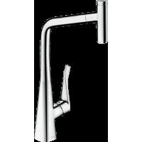 Смеситель hansgrohe Metris Select M71 для кухонной мойки, хром 73803000