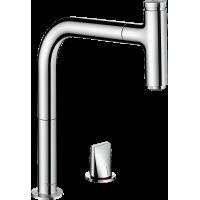 Смеситель hansgrohe Metris Select M71 для кухонной мойки, хром 73804000