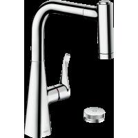 Смеситель hansgrohe Metris Select M71 для кухонной мойки, хром 73805000